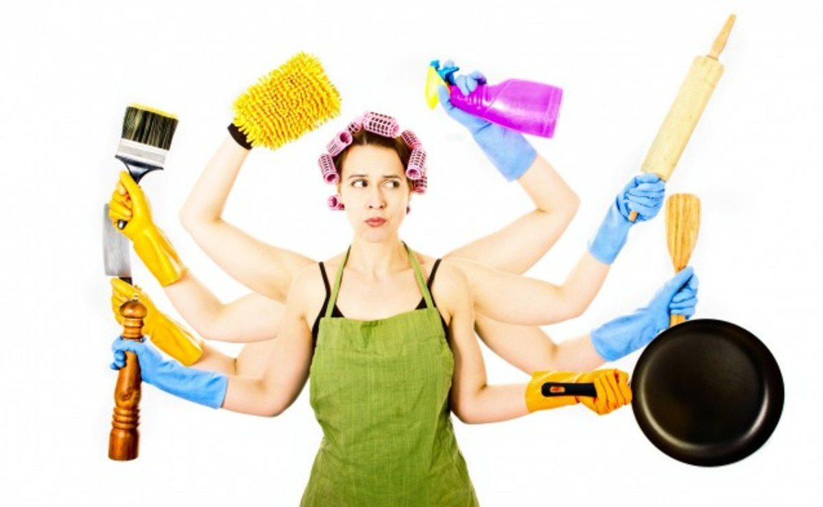 cleaning, cleaning home, exercise and stressing