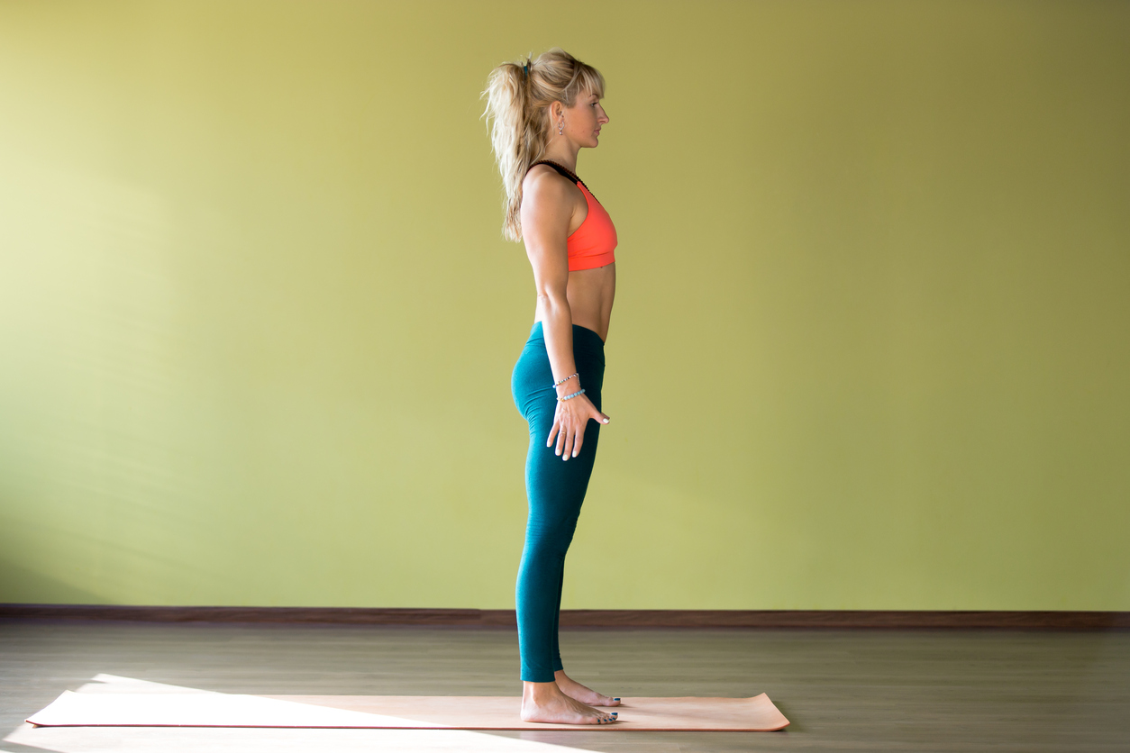standing position, straight position, yoga position