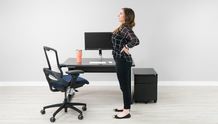 Office Chair Back Stretch