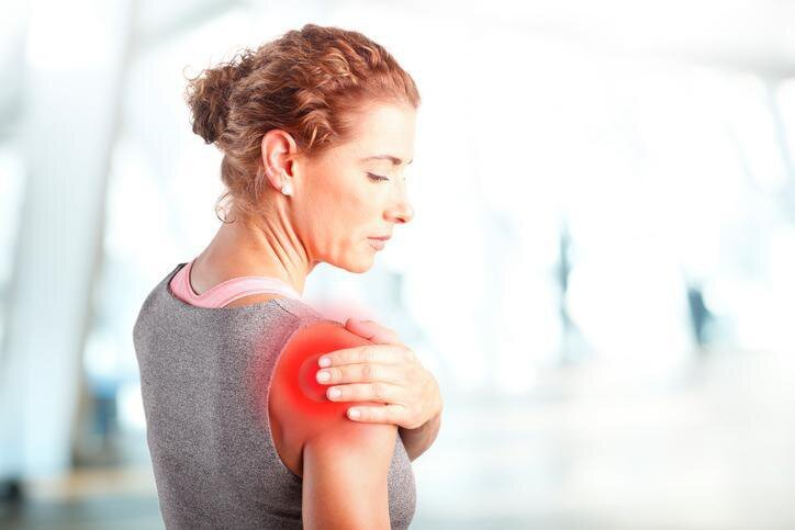 shoulder pain, physiotherapy device